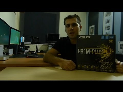 Asus H81M Plus Micro ATX Motherboard Unboxing and Overview