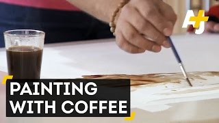 Man Creates Detailed Paintings Using Coffee