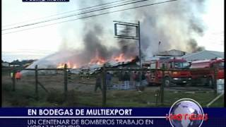 Investigan incendio en Multiexport