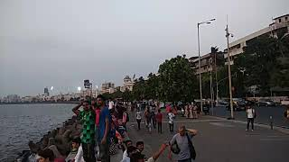 A 360° view of Marine drive at the sunset..