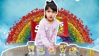 Baby Learn Colors With Skittles | Chocolate Colors For Kids Children Toddler Education