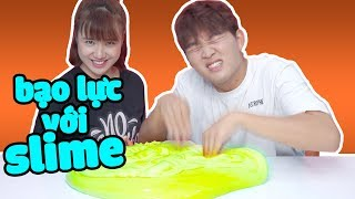First time play slime with Woossi | How the Korean play slime