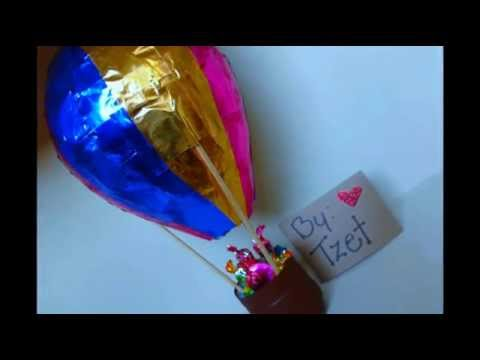 Diy hot air balloon manualidades globo dulcero - Manualidades para fiestas ...