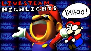 Horribly Speedrunning Super Mario 64: Livestream Highlights