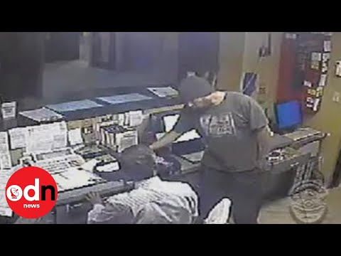 ROBBER TAKEN OUT: Martial arts experts interrupt robbery in Los Angeles