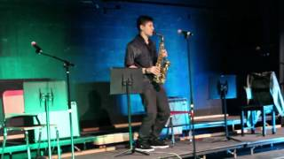 High School Student plays the sax like a Real Pro