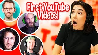 Reacting To YouTubers First Videos!