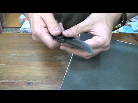 Hollow ground knife convexing / uncut video