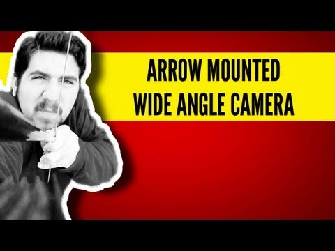 Camera Mounted to Flying Arrow - Wide Angle POV