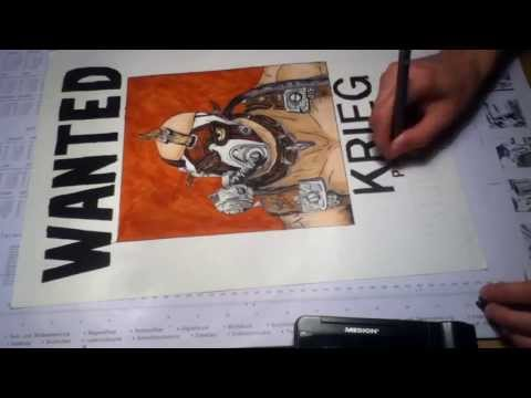 Speed painting and drawing - Krieg the Psycho from Borderlands 2
