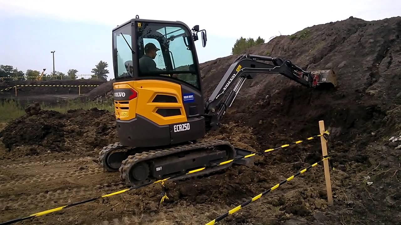 Volvo ECR 25 D Mini Excavator - YouTube