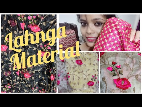 Buy Lahnga Fabric Online... Beautiful Design...