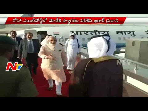 PM Modi Receives Grand Welcome in Qatar Airport | NTV
