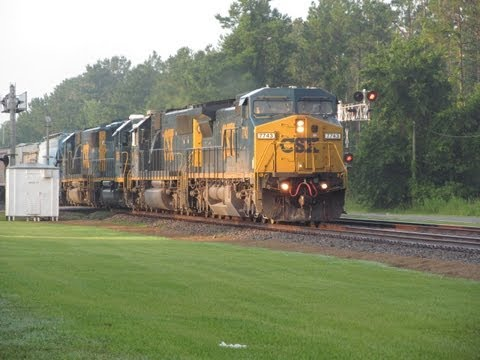 [HD] Railfanning Folkston, GA - Friday July 5, 2013 Part 1