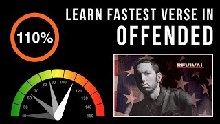 Let's Practice! Eminem's Fastest Verse In 'Offended' (Slowed down w/ scrolling lyrics)