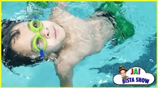 Kids Swimming Lessons | Learn Swimming with Jai Bista Show | kids swimming in the pool