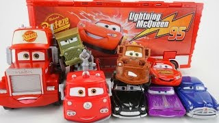 DISNEY CARS 3 NEW WHEEL ACTION DRIVERS MACK RACE HAULER RED SARGE LIGHTNING MCQUEEN MATER WRECK