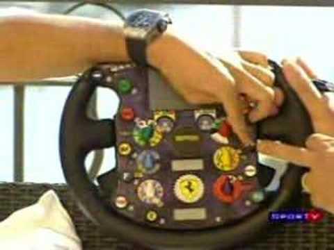 Felipe Massa explica os segredos do volante de um Fórmula 1