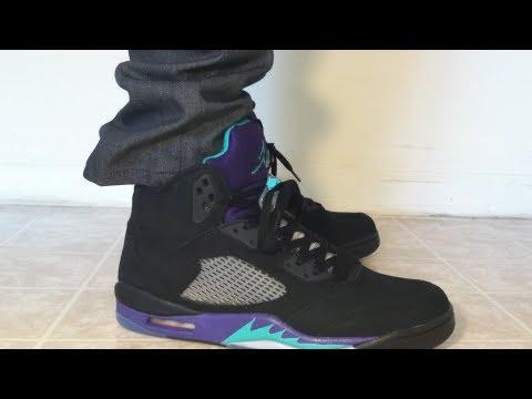 Black Grapes 5 Jordan 5 Black Grapes Aqua