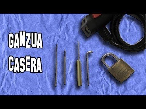 Como Hacer una Ganzúa Casera para Abrir Cerraduras (Ganzuado Deportivo) | Experimentos Caseros