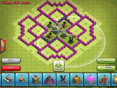 Town Hall 7 Farming Base TH7 CROSS (CLASH OF CLANS)