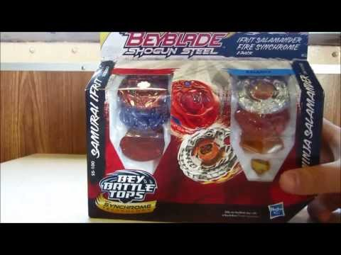 Beyblade Shogun steel Ifrit salamander fire synchrome 2 pack set unboxing!