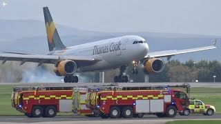 *EMERGENCY* Thomas Cook A330-200 Emergency Landing at Manchester Airport- 15/04/17