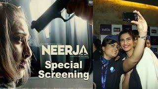 Neerja Full Movie Special Screening With Sonam Kapoor for Air Hostesses