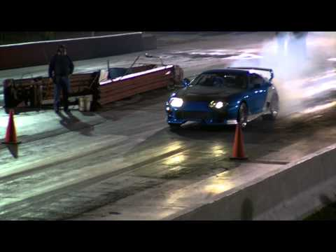 1200HP Supra vs Nissan 240SX Drag Race