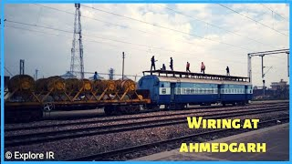 Wiring at ahmedgarh railway station.