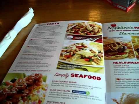 Applebee's Restaurant Menu and Dinner U.S.A. 09-2011