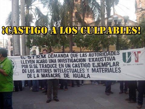 Sindicato de Telefonistas en Tampico se manifiesta por  #Ayotzinapa.