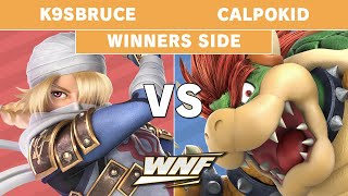 WNF 2.7 K9sbruce (Sheik) vs Calpokid (Bowser) - Pools - Smash Ultimate