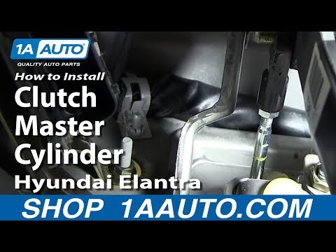 How To Install Replace Clutch Master Cylinder 2001-06 Hyundai Elantra