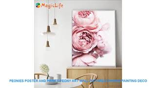 Peonies Poster and Prints Peony Art Wall Pictures Canvas Painting Deco