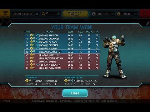 !NSANE vs. Dhaka-  Clan War (matches 4-5) :Shadowgun Deadzone