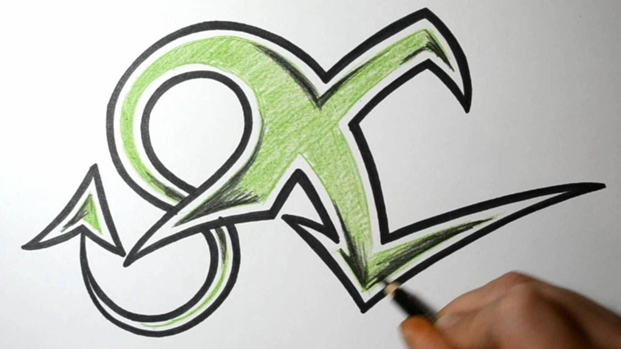 Graffiti Letter V Designs
