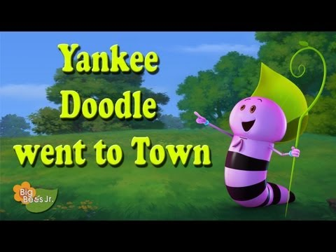 YANKEE DOODLE WENT TO TOWN NURSERY RHYMES ANIMATION BIG BEES...