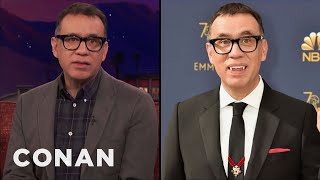Download Lagu Why Fred Armisen Wore Dracula Fangs To The Emmys  - CONAN on TBS Gratis STAFABAND
