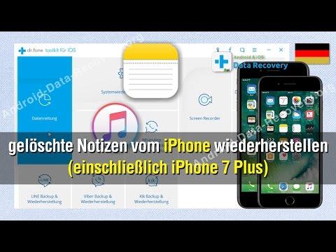 Wie Sie gelöschte Notizen vom iPhone wiederherstellen (einschließlich iPhone 7 Plus)