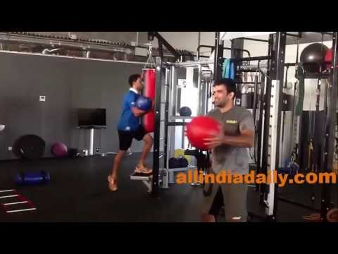 Yuvraj Singh and Zaheer Khan Training at France
