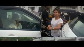 Nazriya Fight With Public For Car accented
