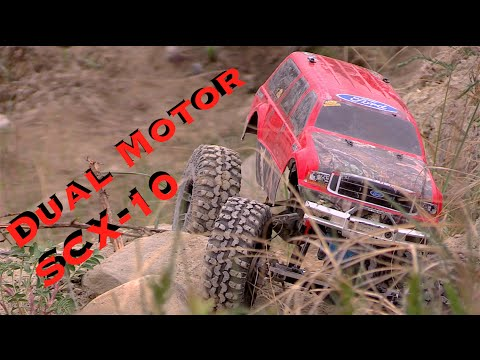 RC CWR SCX-10 Dual Motor trai run with 2 other Axial SCX-10