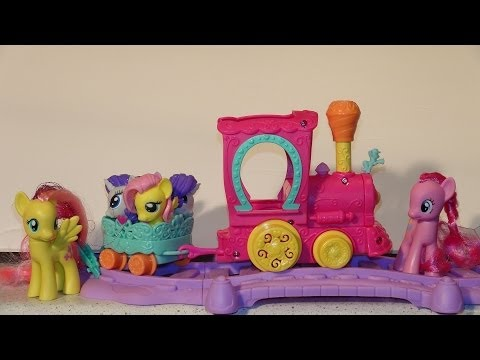 My Little Pony Friendship Express Train Unboxing And Setup, With Pinkie Pie, Fluttershy, And 4 Squis video