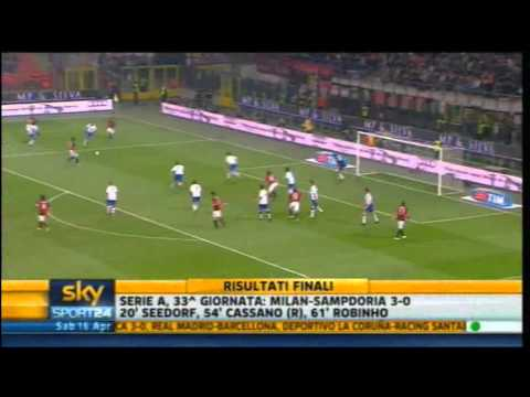 Milan - Sampdoria 3-0 | Highlights Sintesi Sky Sport 24 | 16/04/2011 | 33^ giornata serie A | HQ