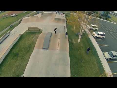 Aerial Skatepark Footage - Sylvan Lake, Alberta
