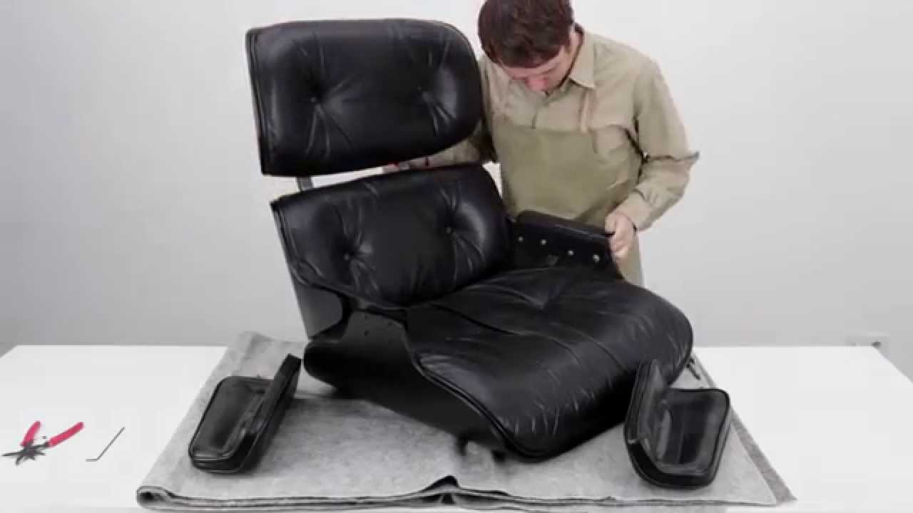 how to restore an eames lounge chair with broken arm rest shock mounts restaurierung. Black Bedroom Furniture Sets. Home Design Ideas