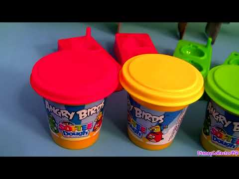 Angry Birds Softee Dough Figure Maker Playset Ultimate Epic Review Mold Create Launch play-doh birds