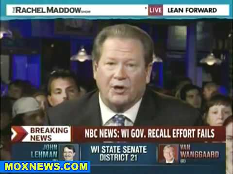 Scott Walker Projected The Winner of the Wisconsin Guv Recall Race - MSNBC Anchors Cry