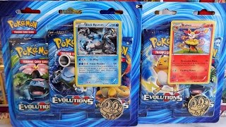 2016 Pokémon TCG: Evolutions Braixen & Kyurem - M Charizard EX Full Art Blister Packs